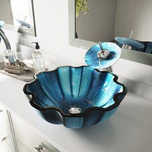 Best Price Sinks Glass Circular Vessel Bathroom Sink ByVIGO