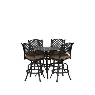Kempf 5 Piece Bar Height Dining Set with Cushions