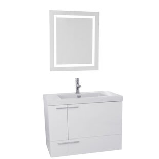 New Space 31 Single Bathroom Vanity Set with Mirror by Nameeks Vanities