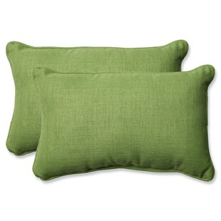 Rave Lawn Indoor/Outdoor Throw Pillow (Set of 2) by Pillow Perfect