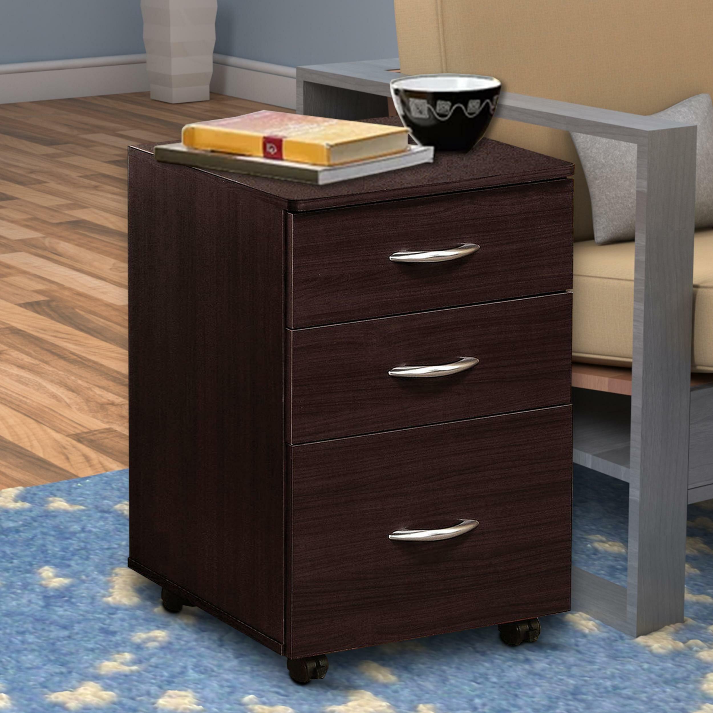 Ebern Designs Burrage 3 Drawer Mobile Vertical Filing Cabinet Wayfair