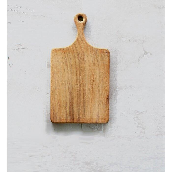 Java Creations Teak Wood Straight Shoulder Bread Board