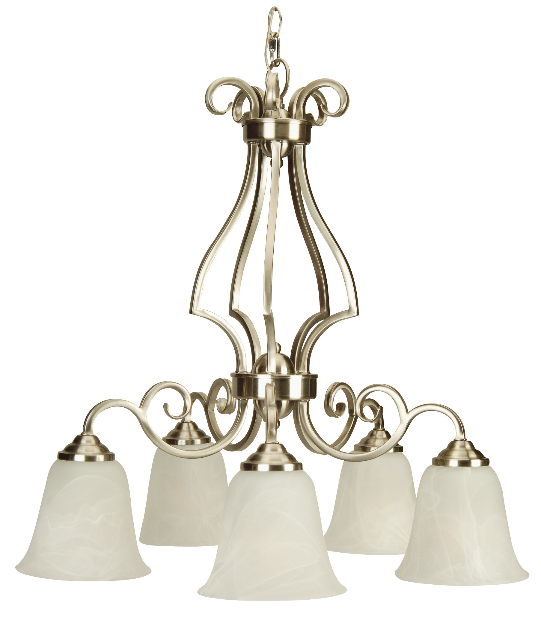 Alcott Hill Centreville 5 Light Shaded Classic Traditional Chandelier Wayfair