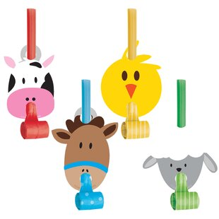 Farm Plastic/Paper Disposable Party Favor Set