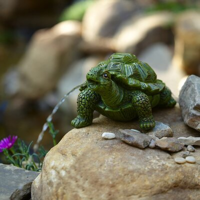 Resin Turtle Spitter Fountain Pond Boss