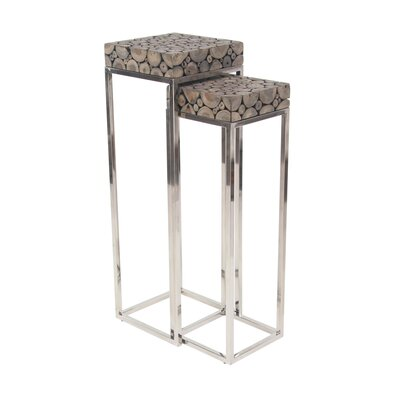 2 Piece Pedestal End Table by Cole  and  Grey