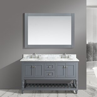 Mccombs 60 inch  Double Bathroom Vanity Set with Mirror