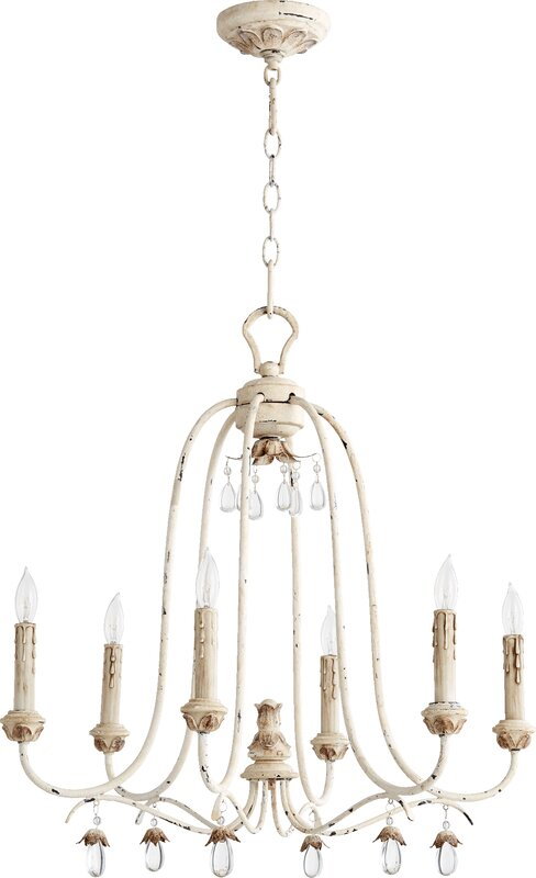 Jaune 6-Light Metal Candle-Style Chandelier