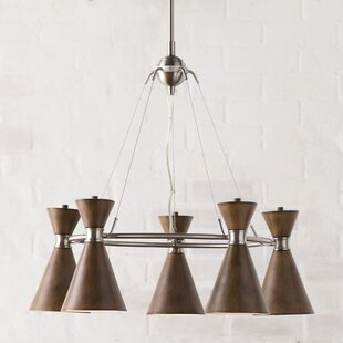 Affordable Ibsen 5-Light Shaded Chandelier By Langley Street