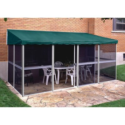 Gazebo Penguin Add-A-Room 15 Ft. W x 8 Ft. D Aluminum Patio Gazebo Frame Finish: White, Roof Colour: Forest Green