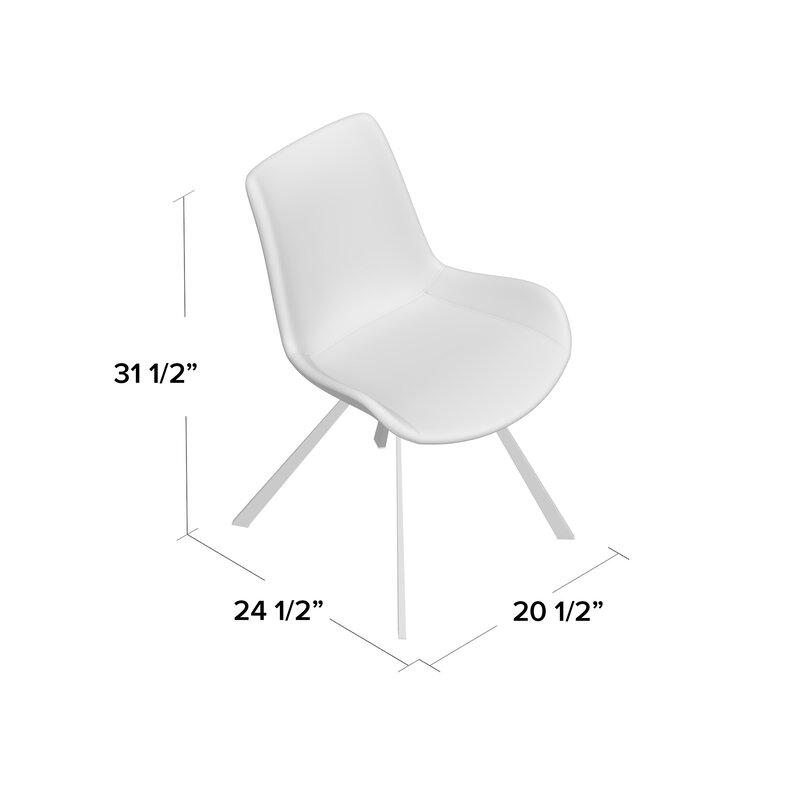 Brayden Studio Brownlee Side Chair In Linen Light Gray Wayfair