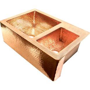 Copper 33 L x 22 W Farmhouse Kitchen Sink