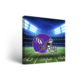 NCAA Stadium Design Framed Graphic Art on Wrapped Canvas By Victory Tailgate