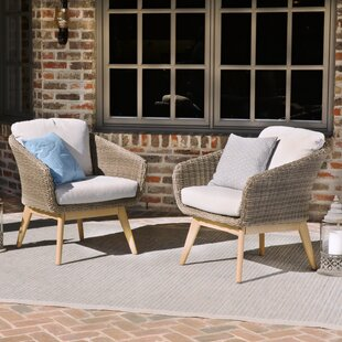 Bacchus Patio Chair with Cushions (Set of 2)