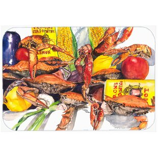 Crabs Glass Cutting Board