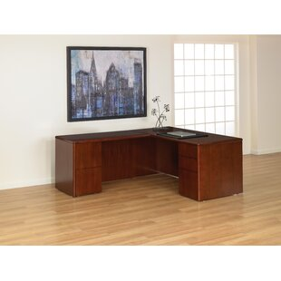 Jusino L-Shaped Straight Front Executive Desk by Latitude Run Today Only Sale