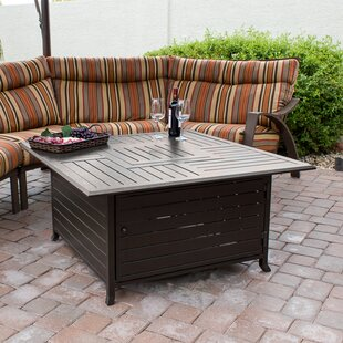 Charmant Stainless Steel Propane Fire Pit Table
