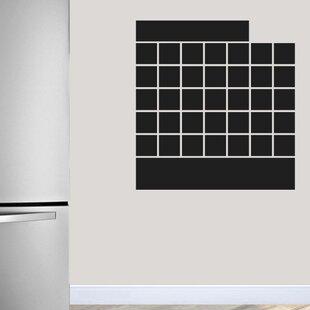 Genial Tyner Chalkboard Calendar Wall Decal