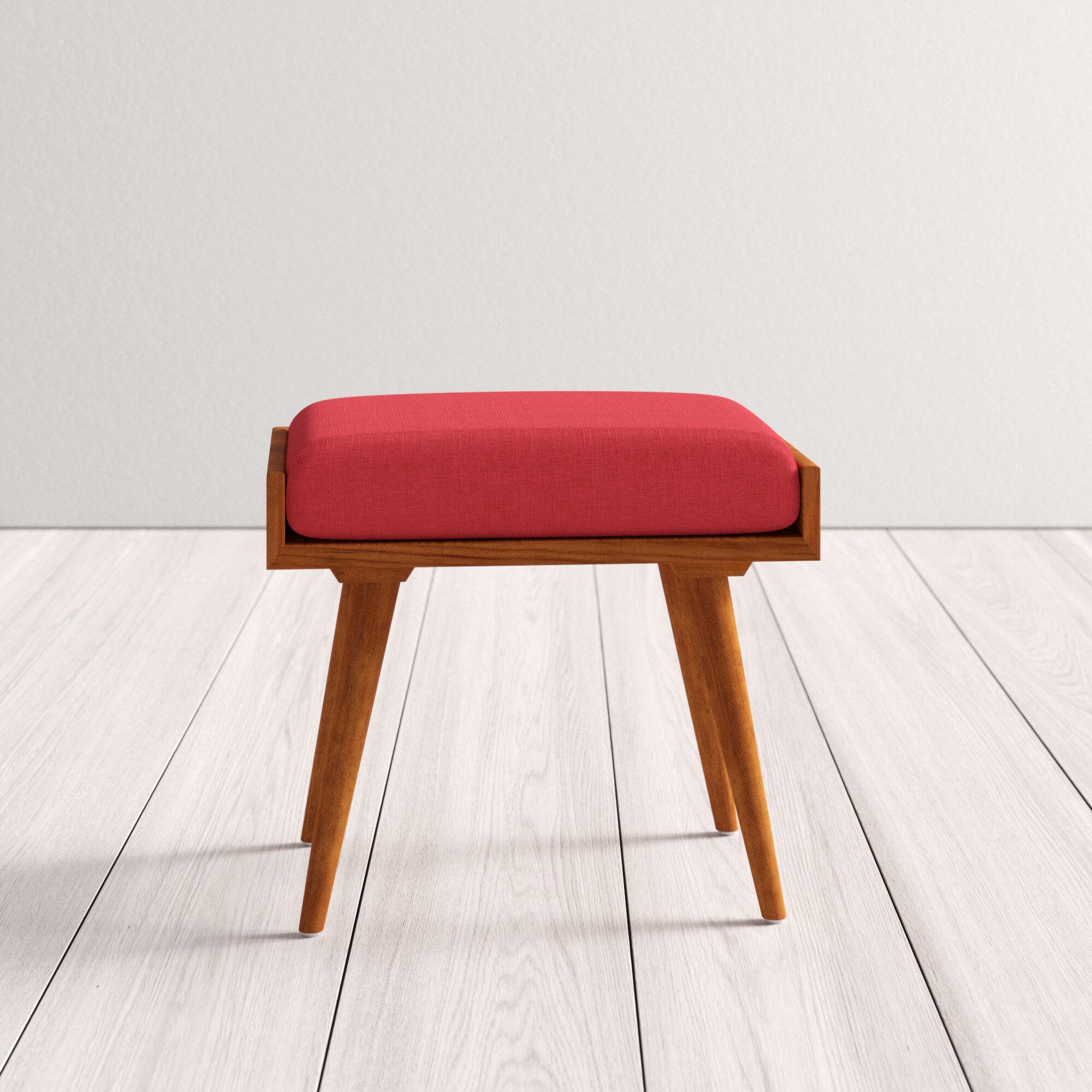 Sumner Solid Wood Vanity Stool Reviews Allmodern