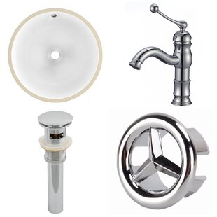 Best Choices CUPC Ceramic Circular Undermount Bathroom Sink with Faucet and Overflow ByAmerican Imaginations