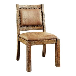 Dalrymple Industrial Solid Wood Dining Chair (Set Of 2) by Fleur De Lis Living Findt