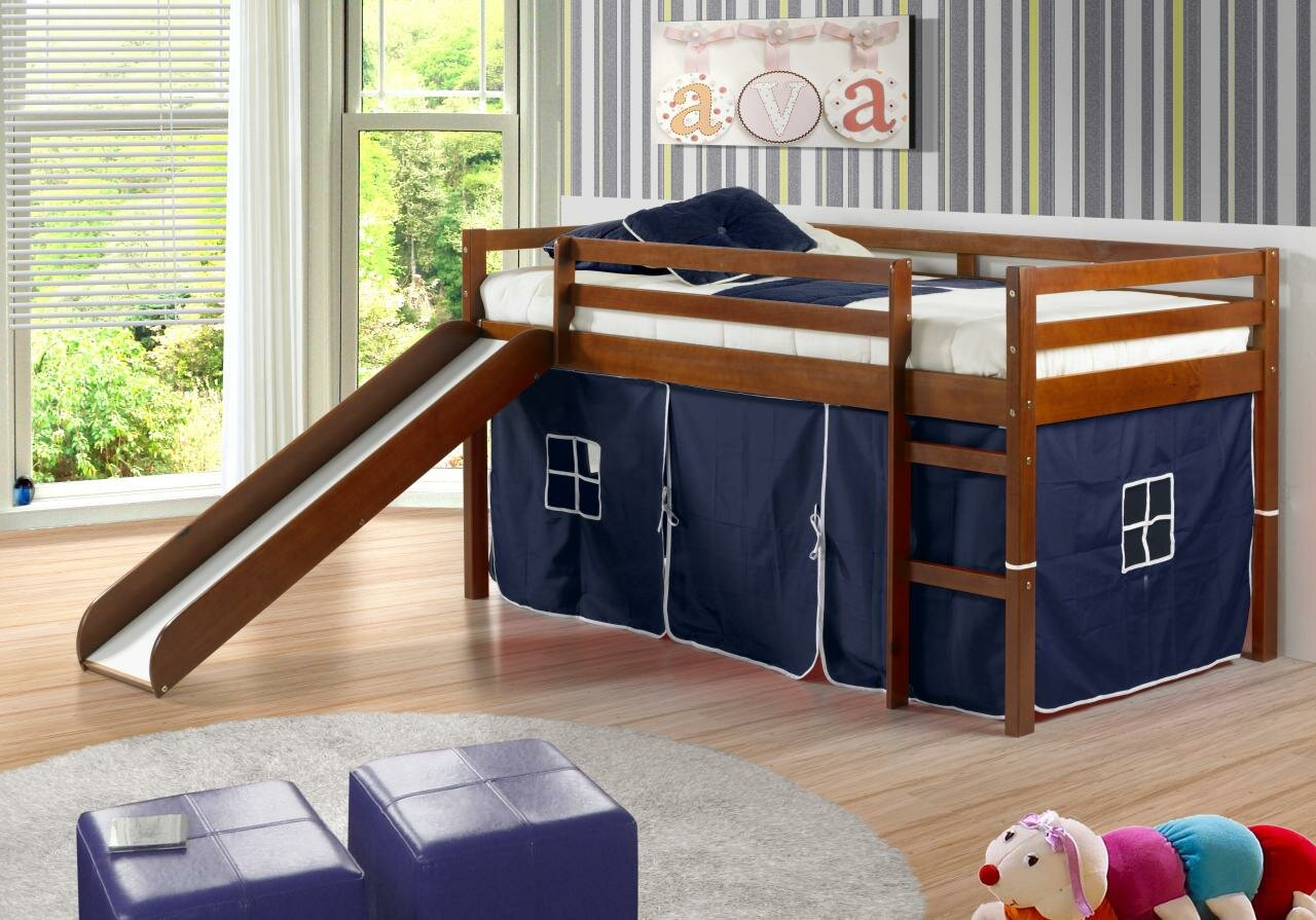Harriet Bee Ogden Tent Twin Low Loft Bed Reviews Wayfair
