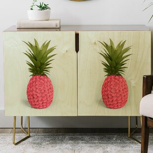 Paul Fuentes Pineapple Roses Credenza East Urban Home