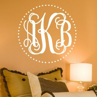 Genial Personalized Fancy Dot Interlock Monogram Wall Decal