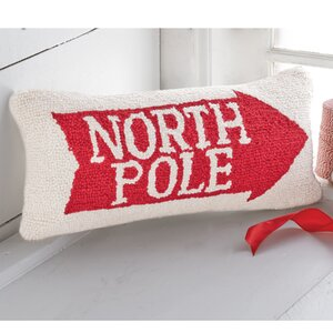 North Pole Arrow Hooked Accent Lumbar Pillow