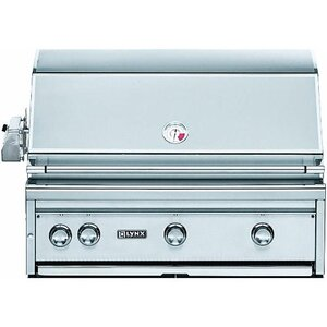 3-Burner Built-In Propane Gas Grill with Smoker