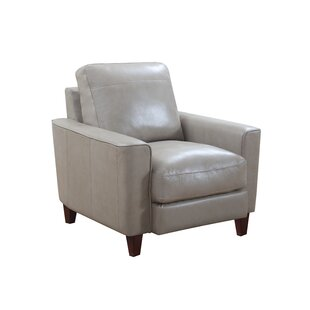 Izaiah Top Grain Leather Club Chair