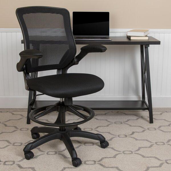 Ebern Designs Pierrepont Mid Back Ergonomic Mesh Drafting Chair Reviews Wayfair