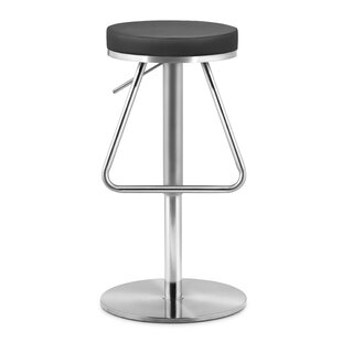 Robles Adjustable Height Swivel Bar Stool Orren Ellis