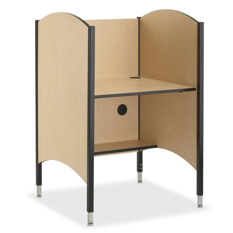 Wood Adjustable Height Study Carrel