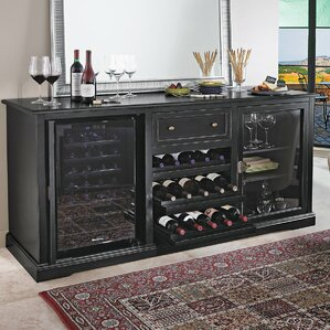 28 Bottle Siena Dual Zone Freestanding Wine Cooler by Wine Enthusiast