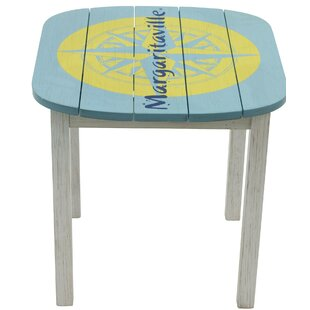 "Margaritaville ""Fins to the Left"" Wooden Balcony Table"