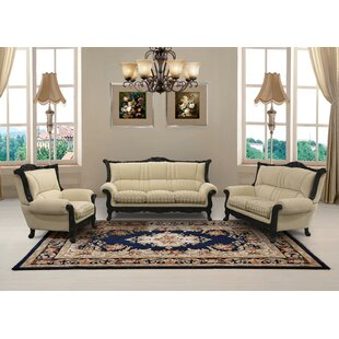 Reviews Vidette 3 Piece Beige And Gold Embossed Fabric Standard Living Room Set by Astoria Grand Reviews (2019) & Buyer's Guide