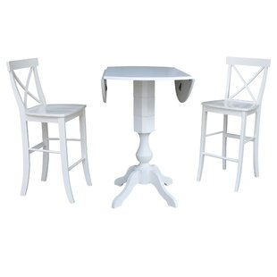 Kim 3 Piece Pub Table Set Rosecliff Heights