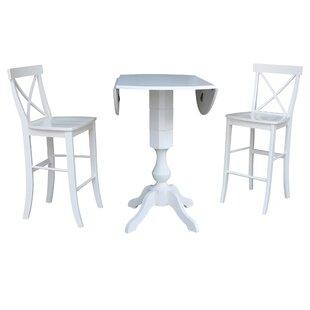 Kim 3 Piece Pub Table Set