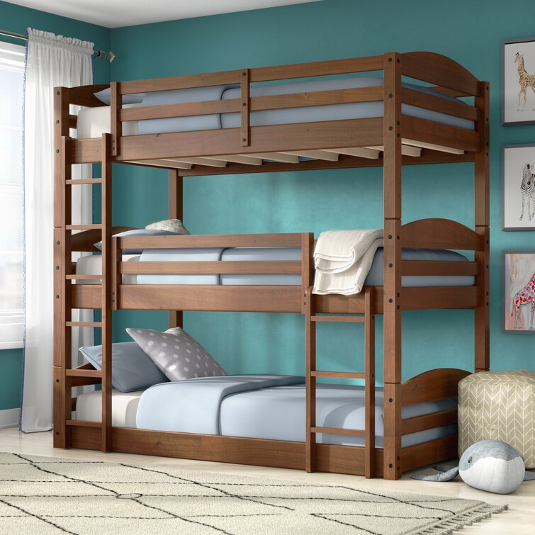 Greyleigh Baby Kids Moorcroft Twin Over Twin Over Twin Triple Quad Bunk Bed By Greyleigh Baby Kids Reviews Wayfair