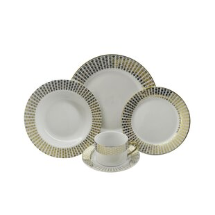 Hearts 40 Piece Dinnerware Set, Service for 8