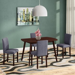 Errico 5 Piece Solid Wood Dining Set by Ebern Designs Best