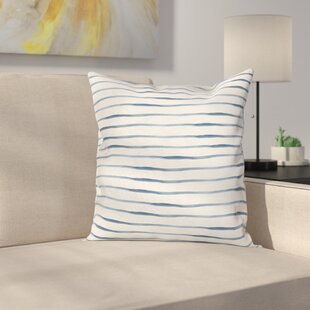 Stripe Abstract Ocean Square Cushion Pillow Cover