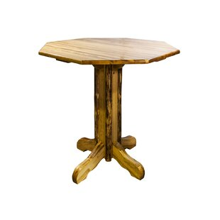 Lapham Solid Wood Pub Table Millwood Pines
