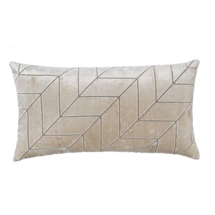 Oneill Cut Velvet Chevron Lumbar Pillow