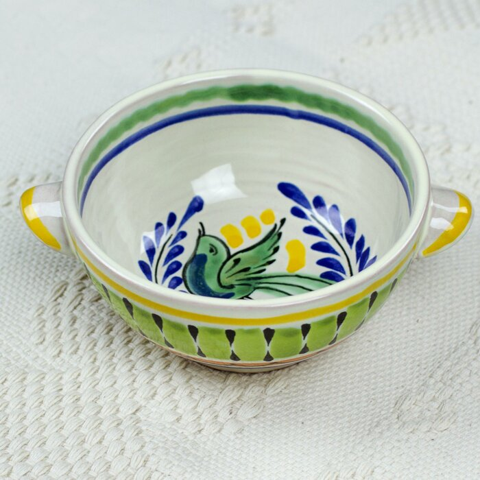 Gorky Gonzalez Collectible Majolica Bird Soup Bowl