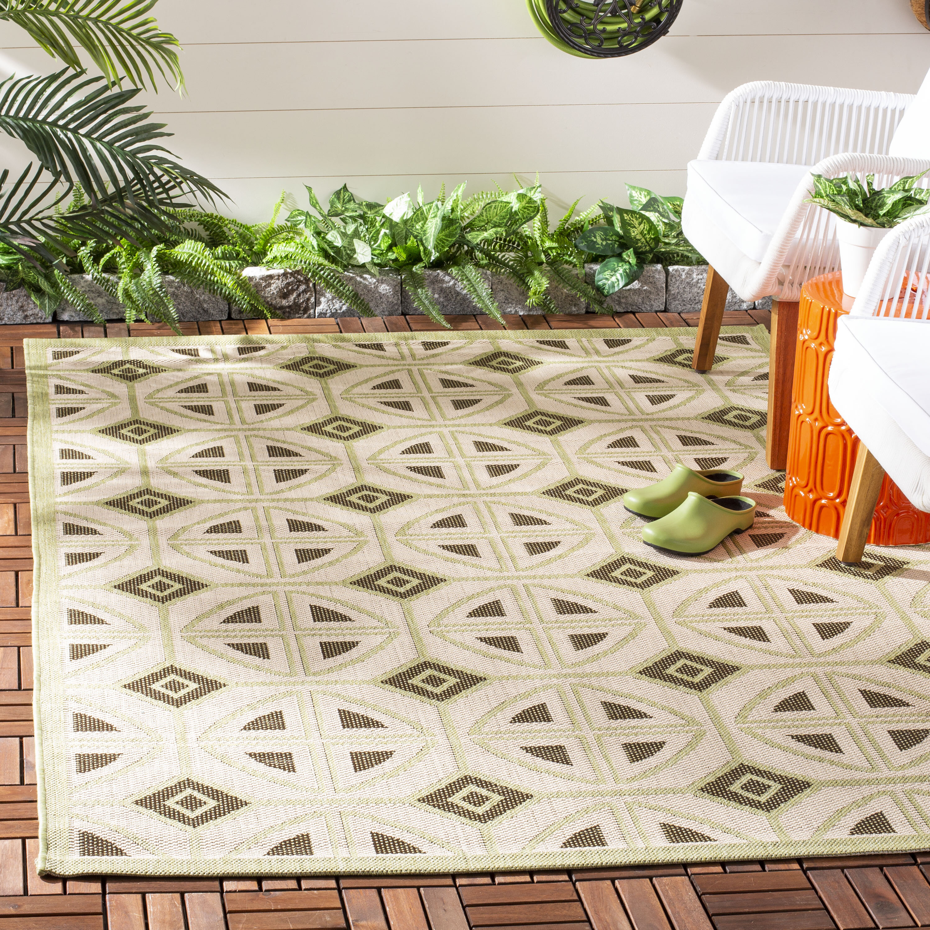 George Oliver Catharine Green Indoor Outdoor Area Rug Reviews