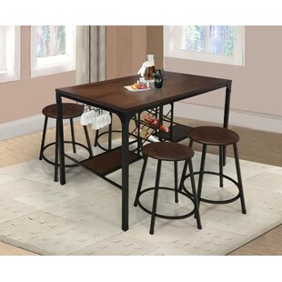 Glendale 5 Piece Pub Table Set Williston Forge