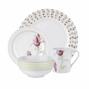 Magnolia Haze 16 Piece Dinnerware Set