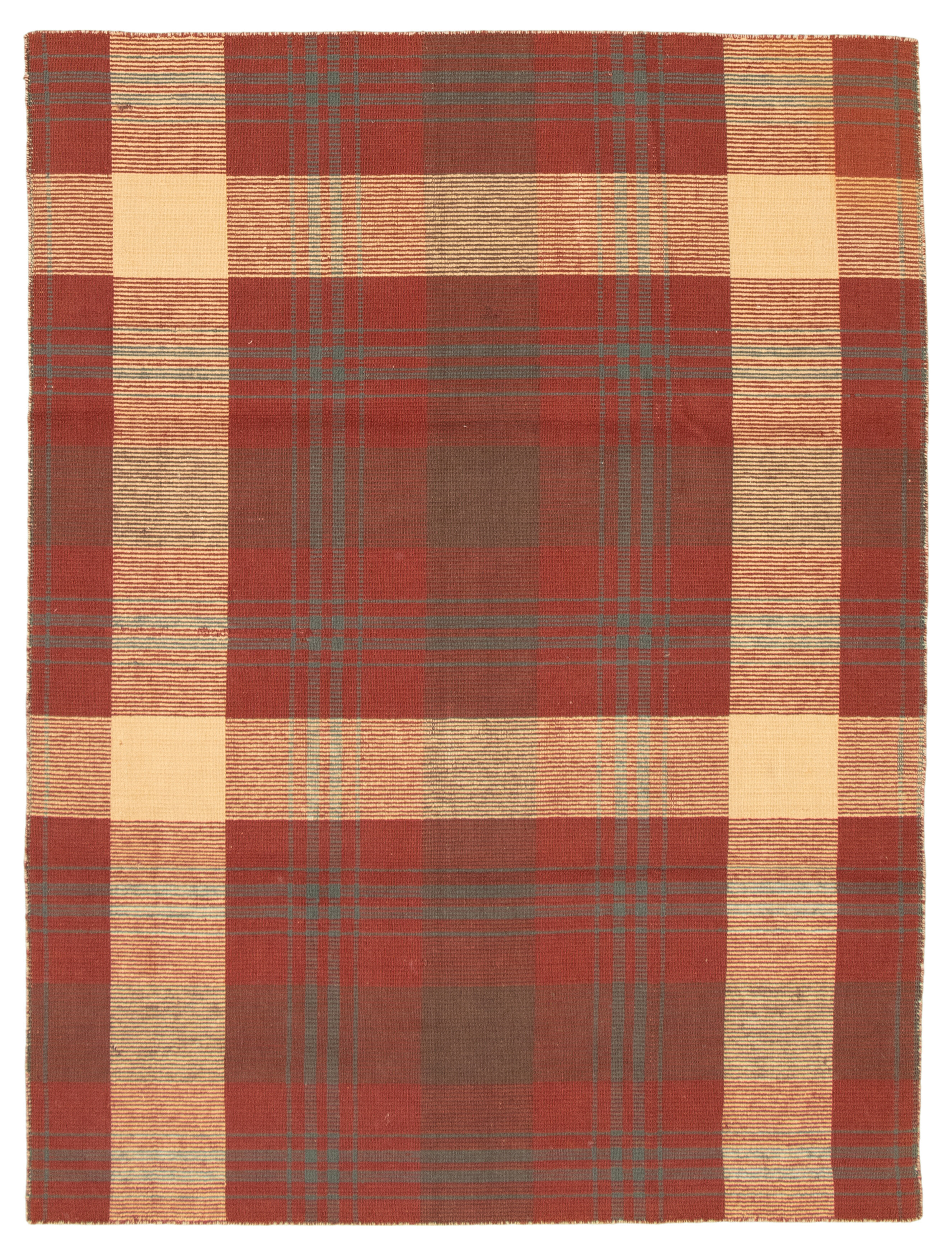 August Grove Wickman Handwoven Flatweave Wool Dark Red Area Rug Wayfair